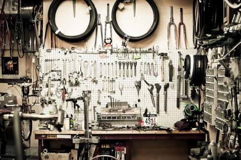 Boutiqe de vélo et ses outils