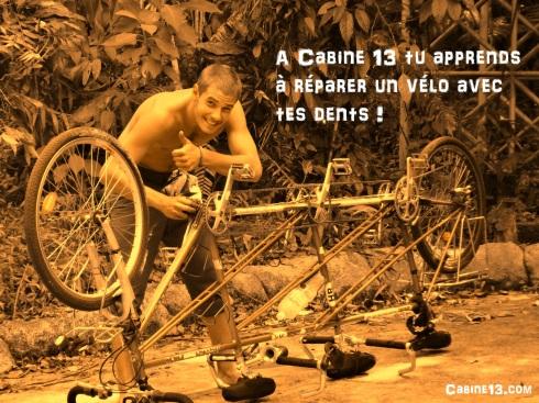 Répare un vélo avec tes dents - cabine 13