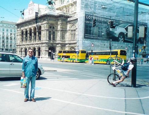 Chute en vélo extraordinaire